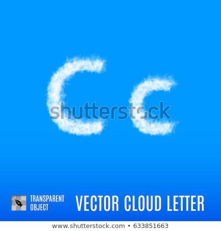 Сток-фото: облачный · буква · С · облака · небе · 3d · иллюстрации · природы