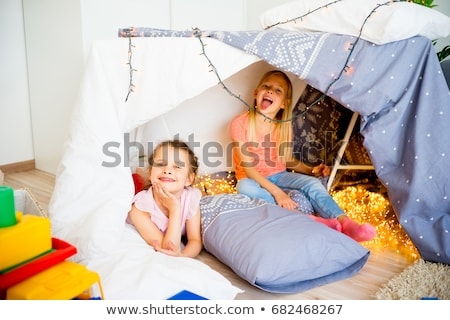 Two girls with tent Stock photo © IS2