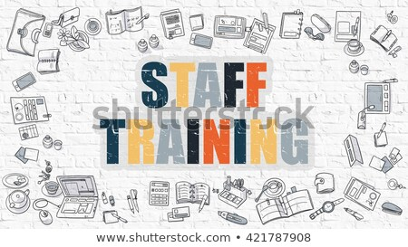 Staff Training Concept. Multicolor on White Brickwall. Stock photo © tashatuvango