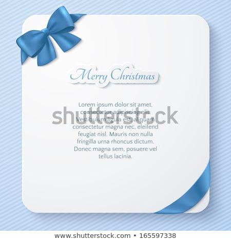 Azul vacaciones cinta arco vector Foto stock © fresh_5265954