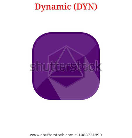 Dynamic Crypto Currency Coin. Vector Logo of DYN. Stock photo © tashatuvango