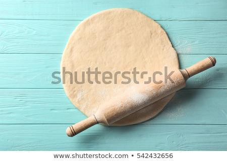 сырой скалка продовольствие фон торт Кука Сток-фото © M-studio