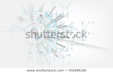 Background design with white gears on green Stock photo © bluering