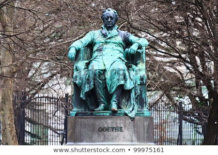 goethe statue in vienna austria stock photo © boggy
