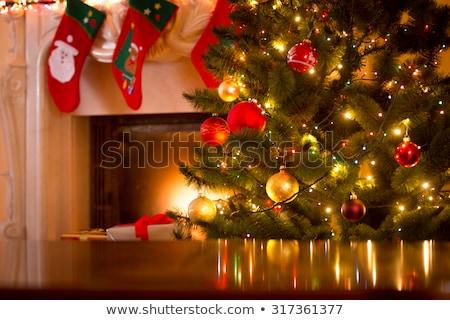 floue · Noël · vacances · lumières · bokeh · fond - photo stock © wavebreak_media