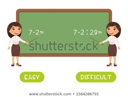 Tegenover woord wiskunde business school ontwerp Stockfoto © bluering
