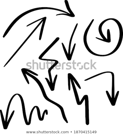 Hand navigation signs. silhouettes of different shapes. Stock photo © FoxysGraphic