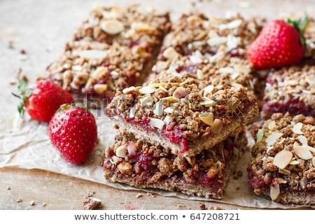 Granola morango fundo café da manhã dieta baga Foto stock © M-studio