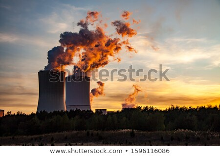 Power station at sunset Stock photo © tracer