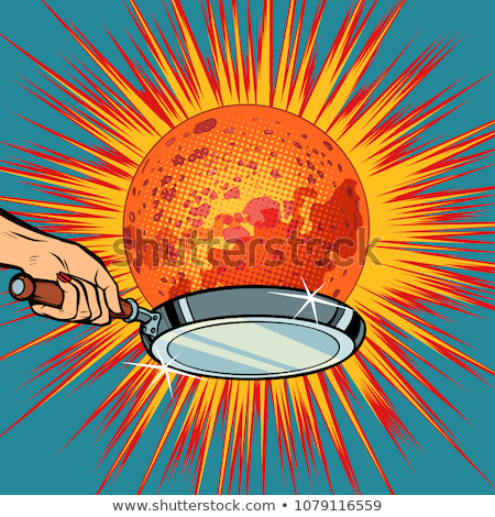 People with a frying pan fry the planet Mars Stock photo © studiostoks