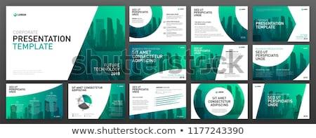 modern green business flyer brochure presentation template Stock photo © SArts