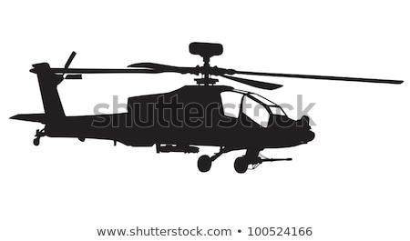 aanval · helikopter · illustratie · militaire · missie · clip · art - stockfoto © rogistok