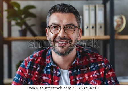 Male looking to camera smiling Stock photo © IS2