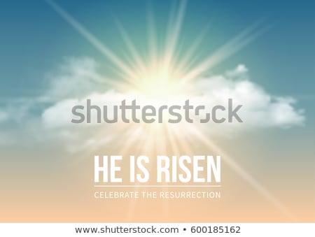 Paskalya · diriliş · İsa · Mesih · çapraz · ışık - stok fotoğraf © articular