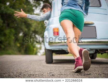 Incidente auto strada divertente uomo donna Foto d'archivio © studiostoks