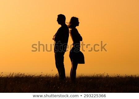 Man vrouw paar ruzie silhouet mannen Stockfoto © Krisdog