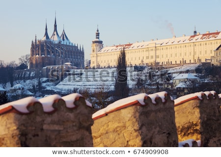 Former Jesuit College and St. Barbara's Church in Kutna Hora Stock photo © benkrut