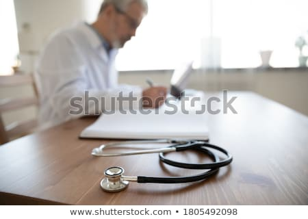 Research Doctor old men_desk work stock photo © toyotoyo