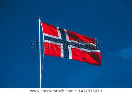 Norwegian flag against the blue sky Stock photo © Kotenko