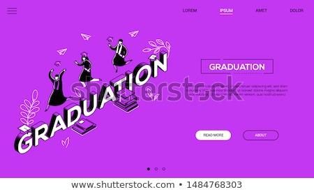 fiú · lány · érettségi · iskola · diák · oktatás - stock fotó © decorwithme