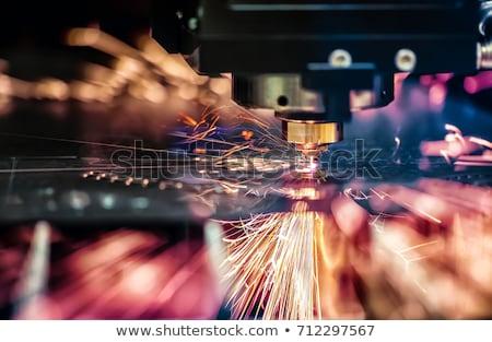 Lézer vág fém modern ipari technológia Stock fotó © cookelma