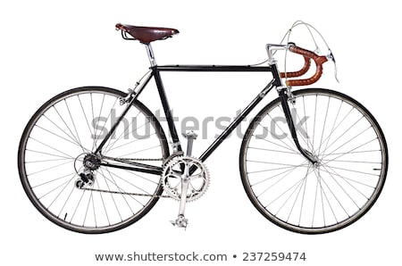 Retro styled brown bicycle isolated on a white Stock photo © vlad_star