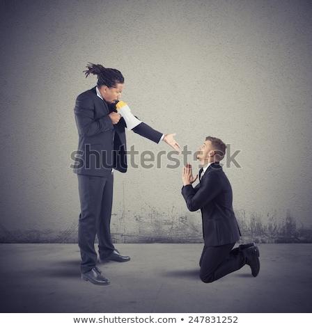 jefe · gritando · empleado · trabajo · empresario · trabajador - foto stock © pikepicture