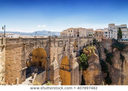 Puente Nuevo and El Tajo Gorge in Ronda Stock photo © benkrut