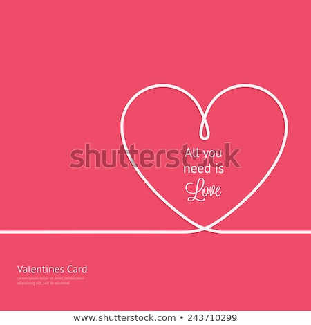 Valentine card template with red heart Stock photo © colematt