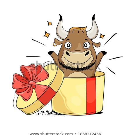 Surprised Cartoon Bison Stock photo © cthoman