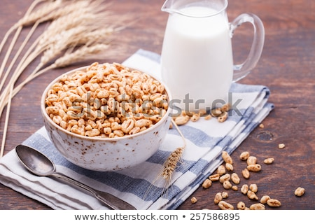 Puffed rice with milk Stock photo © bdspn