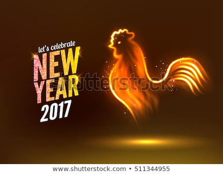 Noël nouvelle année or glitter oiseau carte Photo stock © cienpies
