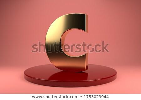 Arany betűtípus c betű 3D 3d render illusztráció Stock fotó © djmilic