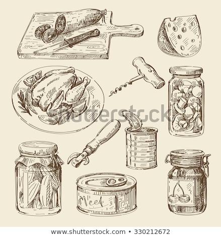 Pepino en conserva alimentos icono verde primer plano Foto stock © robuart