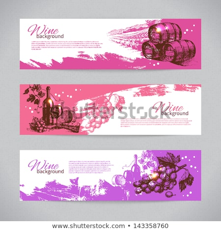 Label design with wines and cheeses Stock photo © colematt