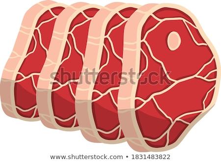 мяса свинина ломтик кость изолированный икона Сток-фото © robuart