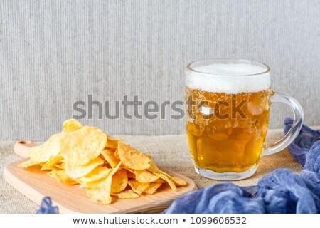 Sör bögre hab sültkrumpli tál falatozó Stock fotó © robuart