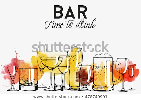 beer alcoholic drink sketch vector illustration stock photo © robuart
