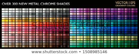 Zestaw kolor metaliczny złoty przyciski metal Zdjęcia stock © SArts