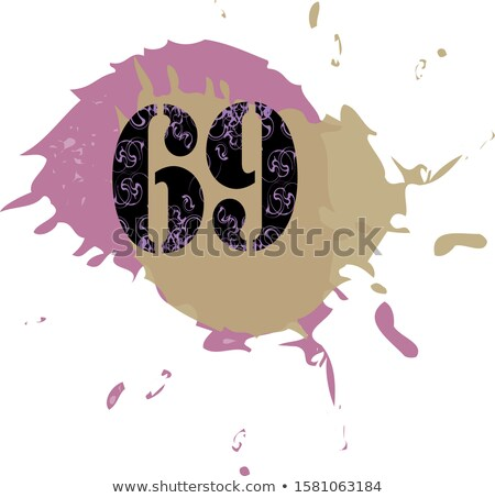 number sixty nine 69 logo vector icon element design sign Stock photo © blaskorizov