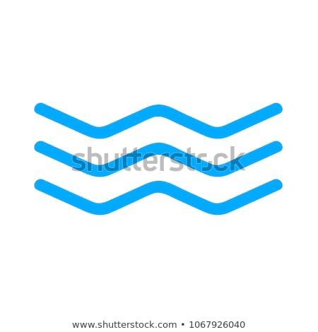 water river wave symbol vector icon element Stock photo © blaskorizov