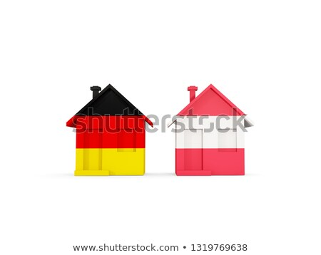 two houses with flags of germany and austria stock photo © mikhailmishchenko