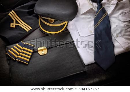 Piloot uniform ontwerp stijl geïsoleerd business Stockfoto © netkov1