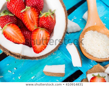 Coconut and strawberry stock photo © ConceptCafe