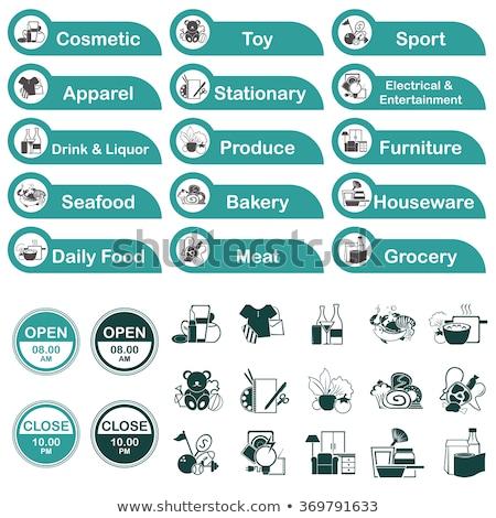 Sport goederen markt afdeling icon kleur Stockfoto © angelp