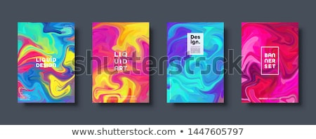 abstract background liquid fluid set vector curve minimalism decoration smooth blurred print ele stock photo © pikepicture
