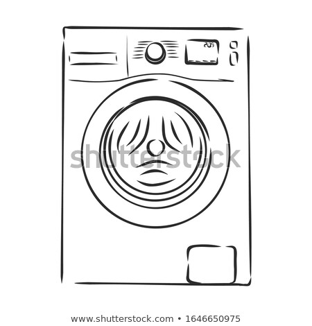 laundry wash machine doodle vector icon art Stock photo © vector1st