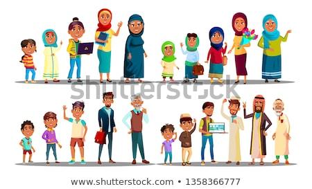 Moslem Vector. Arabic Moslem People. Male, Female. Islamic Art. Illustration Stock photo © pikepicture