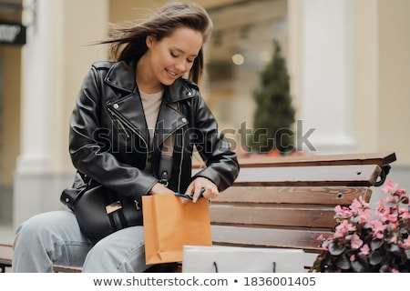 sale and people concept smiling young woman with shopping bags h Stock photo © snowing
