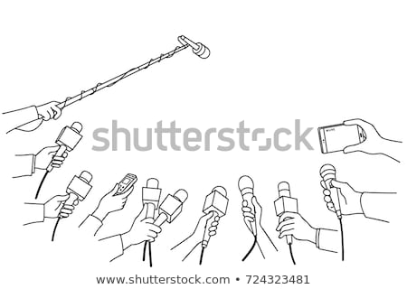 News vector illustration in linear outline style Stock photo © robuart